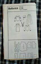 Butterick 6196 período de patrón de costura Disfraz De Mucama Talla 18-22 Sin Tapa
