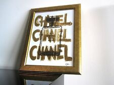 Chanel - Urban Style - Kunst - Pop Art - GOLD - Vintage French Paris No 5 Design