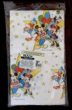 Vintage Disney Mickey Mouse Minnie Paper Table Cover Birthday Party Supplies NOS