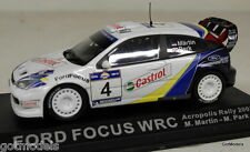 PARTWORKS 1/43 - FORD FOCUS WRC ACROPOLIS RALLY 2003 MARTIN / PARK