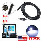 2M/5M Mini USB 4 LED Waterproof Endoscope Borescope Inspection Snake Tube Camera