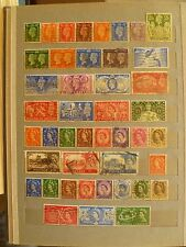 Great Britain old stamp collection, starting from King Edward time, see 2 scans.