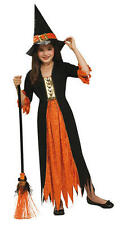Childrens Gothic Witch Fancy Dress Costume Winnie Witch Halloween Outfit 8-10 Yr