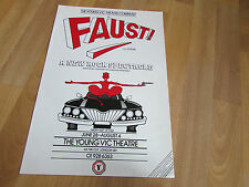 FAUST after GOETHE   New Rock Spectacle  YOUNG  Vic Theatre Original Poster