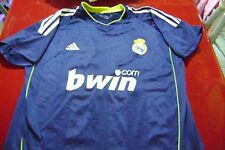old  soccer Blue Jersey Real Madrid Orig  Size L Higuain - adidas