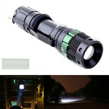 3000 Lumen CREE XM-Zoomable L Q5 LED Flashlight Torch Zoom Lampe Noir EH