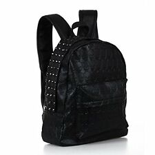 Backpack Bag Rivet PU Skull Womens Black Women Girl FlyP