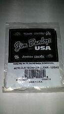 JIM DUNLOP USA Clear Teckpick 12/bag 467R.CLR - metal GUITAR PICKS - 12 package