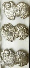 Vintage Silver  PEKINGESE,PEKENESE, PEKINESE,PEKE,TOY DOG,TEMPLE DOG PIN Brooch