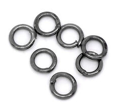 Gunmetal Open Jump Rings 4mm Dia. Findings, pack of 1500 SP0150