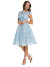 Chi Chi London Dress blue UK 8/US 4 (party/prom) new w/ tags