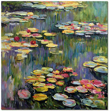 Water Lilies - Hand Painted Repro Claude Monet Oil Painting On Canvas