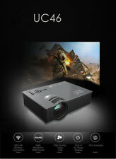 NEW UNIC UC46 LCD Mini Pico Projector1080P 1200Lumen 2.4G WIF HDMI Home Theater