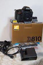 Nikon D810 36.3MP Digital SLR Camera-Body+mem. cards (204 Gb tot.) & 3 batteries