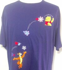 Winnie the Pooh T Shirt XL Mens Disney Jerry Leigh Tigger Navy Blue Cotton