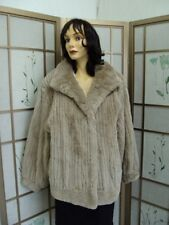 BRAND NEW FAWN COLOR SHEARED BEAVER FUR  JACKET SIZE 12