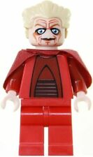 STAR WARS LEGO CHANCELLOR PALPATINE MINIFIGURE WITH RED LIGHTSABER