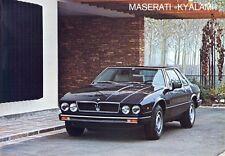 Maserati Kyalami 4200cc 2+2 italiano, inglés y francés en folleto de ventas