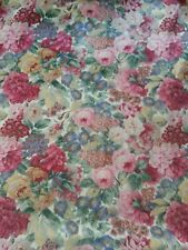 Vintage Sanderson Rose and Peony large pair curtains /fabric 104w x  82d each