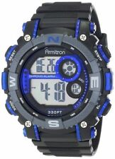 Armitron Men's Black Resin Watch, 100 Meter WR, Chronograph, 40/8284BLU