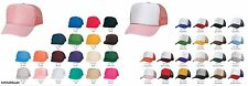 4 Trucker Hat Baseball Cap Mesh Retro Caps Blank Plain Hats (39 Color Choices)