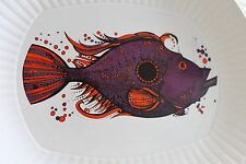 "Rare! ""AQUARIUS"" Fish Series COMPLETE SET 6 PLATES Washington Pottery Ironstone"