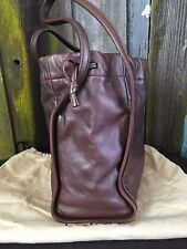 LOEWE Madrid LEATHER LOGO HANDBAG BUCKET SHOPPER TOTE SMALL PURSE Pull Top