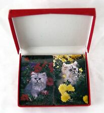 Vintage 1980's Kittens Kitten Trump Brand Two Deck Playing Cards Set