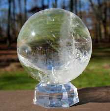 "Quartz Sphere / Crystal Ball ~ 2 1/4"" Diameter"
