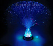Fibre Optic Lamp Blue Colour  Crystal Base - 13 Inch Mood Nove