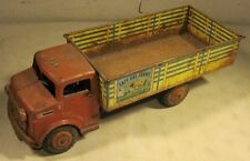 Vintage Marx Tin Pressed Steel Lazy Day Farms Toy Dairy Truck USA NY 1950's
