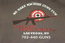 Large Shirt Guns and Ammo Garage Las Vegas 'We make machine guns fun'