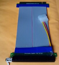 For Bitcoin Mining PCI-E x16 to x16 Riser with Molex Slot Extender Card cable