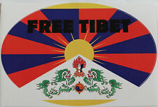 Free Tibet Peaceful Protest Oval Sticker 1 Sided 15.2cm x 10.1cm