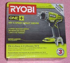 Ryobi One+ P237 18v Cordless Lithium Impact Driver 3-Speed w/LEDs NIB!