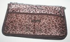 Portable Purse Tote Bag With Inner Storage Organizer Pouch Handbag(Leo Brown)
