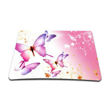 Pink Butterflies Anti-slip MousePad Mice Mat For Optical Wireless Laser Mouse