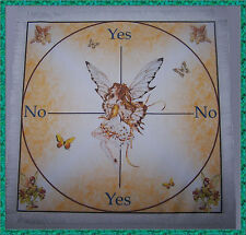 Golden Fairy Scrying Mat ideal for use with a pendulum, Wiccan divination gift