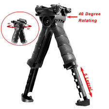 Tactical Vertical Foregrip Swivel Foldable Bipod 20mm Picatinny Rail For Rifle