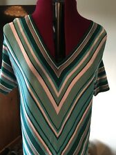 Gorgeous Jumper/Top by Casamia. Colour Turquoise & White. Size L 18-20 Unworn
