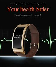 Bluetooth Activity Tracker Blood Pressure Heart Rate Monitor Wrist Smartband #FV