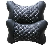 2PCS CAR VAN TRAVEL PILLOW HEADREST SEAT CUSION PAD NECK HEAD REST SUPPORT BLACK