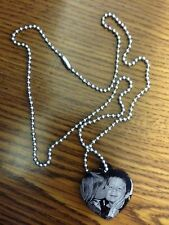 Personalized Laser Engraved Heart Tag,Custom One Photo,Text On Back with chain.