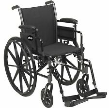 Drive Medical Cruiser III Light Weight Wheelchair W/ Flip Back Arm k316dfa-elr