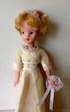 SINDY 1964 BRIDESMAID REPRO PINK VARIANT POSY, HEADBAND & NECKLACE no doll dress