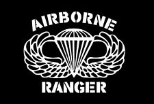 AIRBORNE RANGER JUMP WINGS Window Sticker Decal