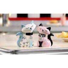 Retro Ceramic Cats Salt and Pepper Shaker Set