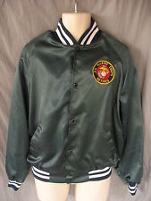 United States Marine Corp Retired Blue Satin Nylon Jacket Westark USMC VTG
