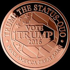 2016 DONALD TRUMP LTD EDITION LARGE GORGEOUS HEAVY COLLECTIBLE COPPER COIN 1oz