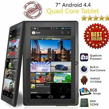 "Nuevo 7"" pulgadas 8GB Android Tablet Quad Core 4.4 Doble Cámara Wifi Bluetooth Tablet"